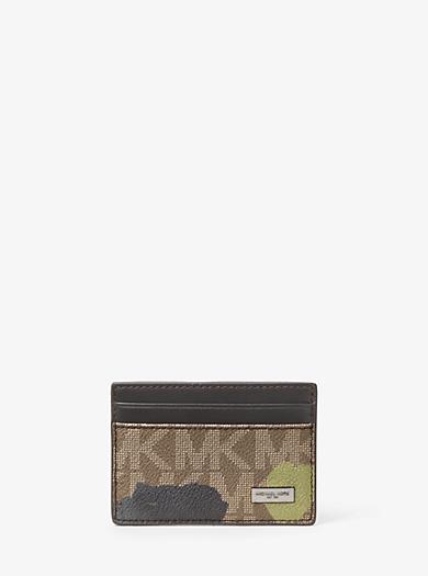 Kartenetui Jet Set Painterly Camo by Michael Kors