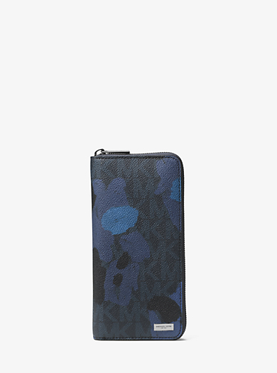 Jet Set Painterly Camo Large Zip-Around Wallet by Michael Kors
