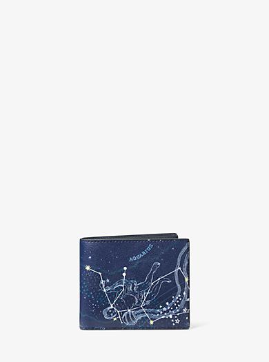 Brieftasche Aquarius aus Leder by Michael Kors