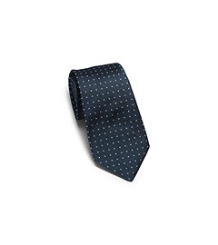 Dotted Woven-Silk Tie
