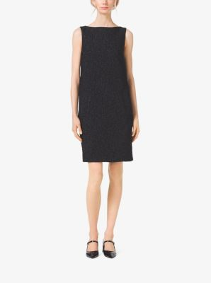Jacquard-Cloqué Barrel-Back Shift Dress by Michael Kors