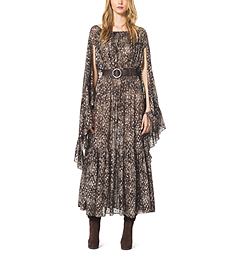Bohemian Floral Metallic Fil Coupé Dress