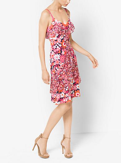 Floral Silk-Georgette Slip Dress by Michael Kors