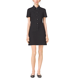 Stretch-Cotton Polo Dress by Michael Kors