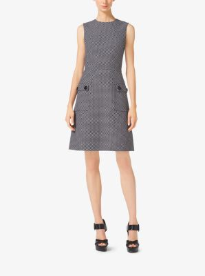 A-Line Wool-Jacquard Dress by Michael Kors