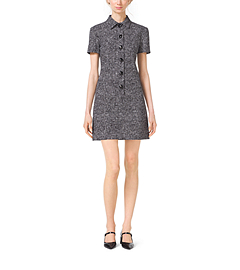 Crosshatch-Print Polo Dress by Michael Kors