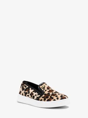 Girl's Ivy Animal-Print Slip-On Sneaker, Toddler by Michael Kors