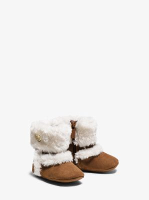 Girl's Grace Microsuede Boot, Infant by Michael Kors