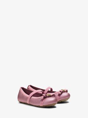 Girl's Rover Metallic Ballet Flat, Toddler by Michael Kors