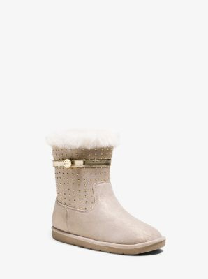 Girl's Grace Studded Microsuede Boot, Big Kid by Michael Kors