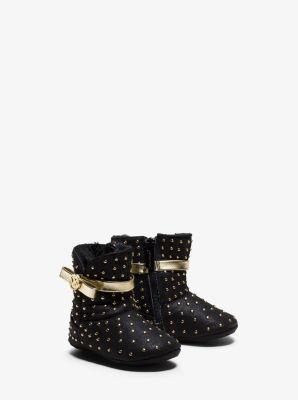 Girl's Grace Studded Microsuede Boot, Infant by Michael Kors