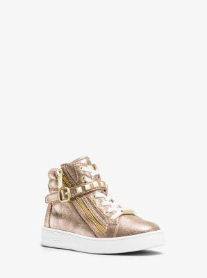 Girl's Ivy Metallic High-Top Sneaker, Big Kid by Michael Kors