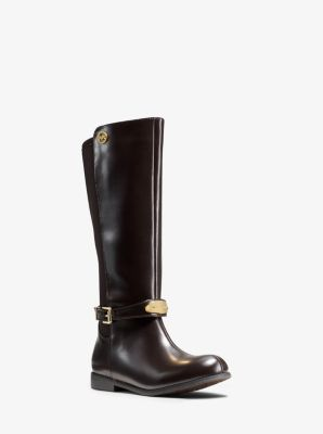 Girl's Parson Logo Plaque Boot, Big Kid by Michael Kors