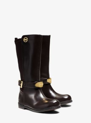 Girl's Parson Logo Plaque Boot, Toddler by Michael Kors