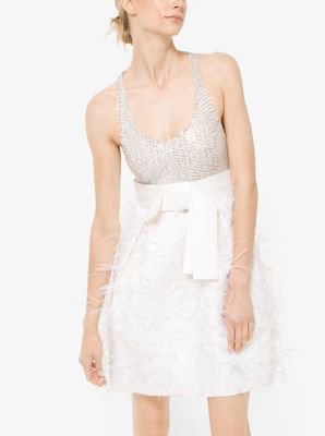 Embroidered Mikado Tank Dress by Michael Kors