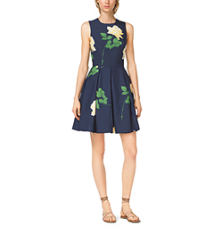 Rose-Print Silk Mikado Dance Dress by Michael Kors