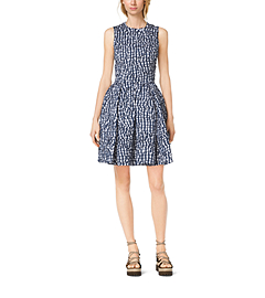 Gingham Crushed-Taffeta Dance Dress
