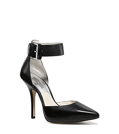 Brinkley Ankle-Strap Leather Pump