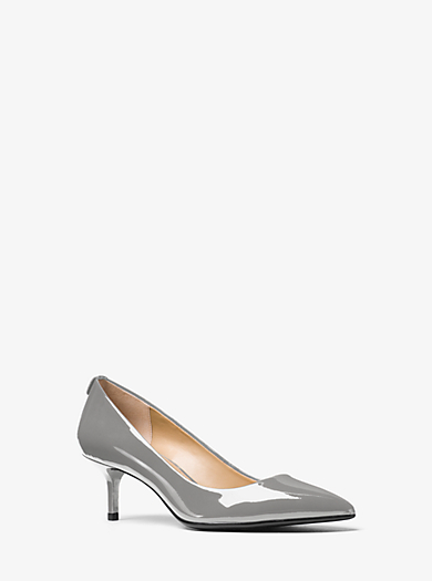 Flex Patent-Leather Kitten-Heel Pump by Michael Kors