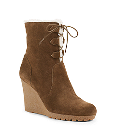 Rory Faux Shearling and Suede Ankle Boot
