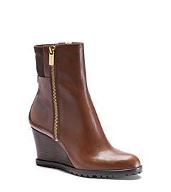Aileen Vachetta Leather Wedge Boot