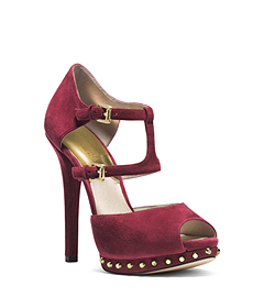 Ailee Studded Cutout Suede Pump