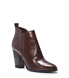Brandy Leather Ankle Boot