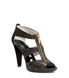 Berkley Cheetah-Print Leather Sandal