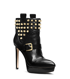 Bryn Studded Leathe Ankler Boot