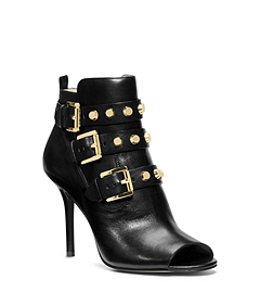 Bryn Open-Toe Leather Boot
