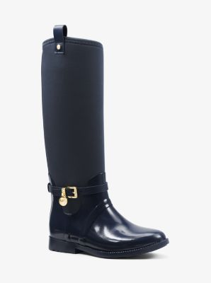 Charm Stretch-Top Rubber Rain Boot by Michael Kors