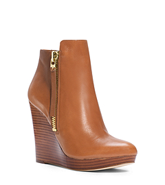 Clara Leather Wedge Ankle Boot