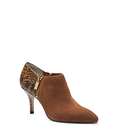 Clara Python Pattern-Embossed Leather Ankle Boot