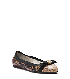Dixie Python Pattern-Embossed Ballet Flat