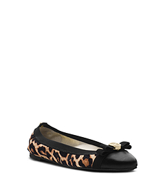Dixie Cheetah Hair Calf Ballet Flat
