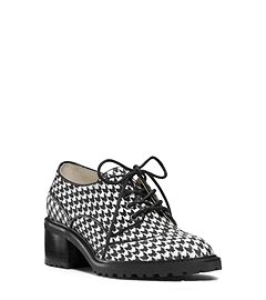 Edison Houndstooth Lace-Up
