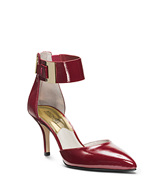 Guiliana Patent-Leather Ankle-Strap Pump