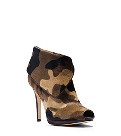 Kendra Camouflage Hair Calf Ankle Boot