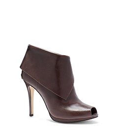 Kendra Open-Toe Leather Ankle Boot