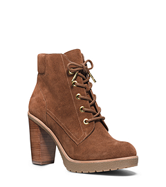 Kim Leather Lace-Up Ankle Boot
