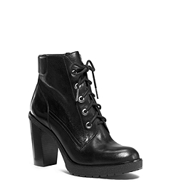Kim Lace-Up Leather Ankle Boot