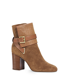 Krista Micro-Stud Suede Ankle Boot