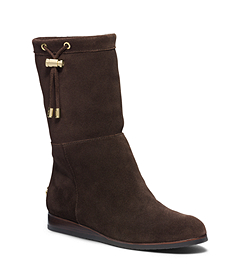 Lizzie Shearling-Lined Suede Boot