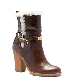 Lizzie Distressed Leather Ankle Boot
