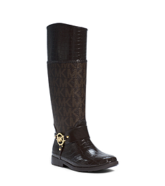 Crocodile Pattern-Embossed Rubber Rain Boot