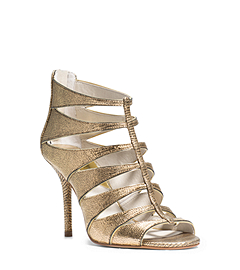 Mavis Python Pattern-Embossed Leather Sandal