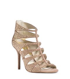 Mavis Open-Toe Embellished Suede Sandal