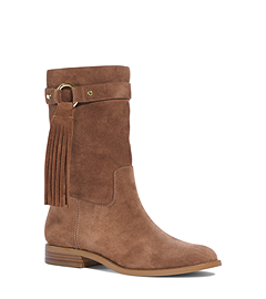 Rhea Fringe Suede Ankle Boot