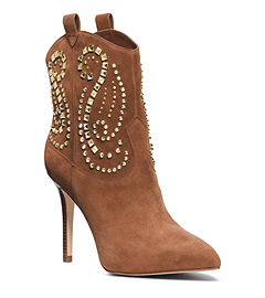 Reena Studded Suede Ankle Boot