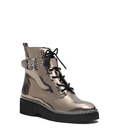 Vivia Metallic Leather Ankle Boot